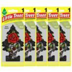 Little Trees リトルツリー エアフレッシュナー 釣り下げ式 芳香剤 Rose Thorn ローズ・ソーン 5枚セット USDM