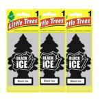 Little Trees リトルツリー エアフレッシュナー 釣り下げ式 芳香剤 ブラックアイス 3枚セット 並行輸入品