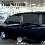 ヴォクシー ノア 80系 ウィンドウモールパネル ドアモール VOXY NOAH セカンドステージ パネル カスタム パーツ ドレスアップ アクセサリー 車 オプション