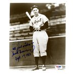 Hank Greenberg Autographed Signed 8x10 Photo Tiger