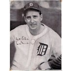 Hank Greenberg Autographed 6.5x8.5 Photo Tigers