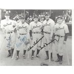 Hank Greenberg Autographed 8x10 Group Photo 1940s