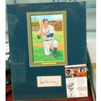 HANK GREENBERG - Signed 5 X 7 Matted Canvas Pictur