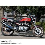 ゼファー750 RPM 80D-RAPTOR フルエキゾーストマフラー サイレンサーカバー:ブルーチタン