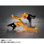 U-KANAYA スタンダードタイプ ショートアルミビレットレバーセット レバー:ゴールド アジャスター:オレンジ ZZR400 ZZR600