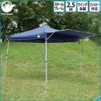 【送料無料】Field Life ウイングワンタッチテント2.5m【ウイング付き 丈夫なスチール製 キャリーバッグ付き ワンタッチテント 簡易テント】