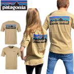 パタゴニア Tシャツ オーガニック ロゴ P-6 半袖  38535 山脈 クラシックタン メンズ レディース PATAGONIA MEN'S P-6 LOGO ORGANIC T-SHIRT