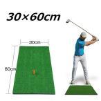 ゴルフ練習マット 30×60cm ゴムティー付 厚さ15mm ゴルフショット練習用マット ゴルフ 練習 マット プローチ スイング練習 ショット用 ゴルフ練習用具 自宅