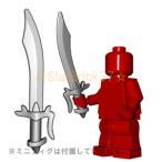 レゴ(LEGO)カスタムパーツばら売り シミター(互換品):スティール