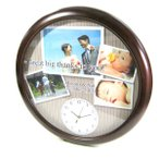 Yahoo!スターキッズ-オリジナルの贈り物写真 時計「思い出写真館 (フォトアルバム) BIG壁掛け時計」写真文字盤 名入れ オリジナル 出産祝い 内祝い 新築祝い 結婚祝い 贈り物 誕生日 ギフト