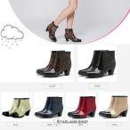 レインブーツ レディース おしゃれ レインシューズ 防水 撥水 長靴 ブーツ 靴 ショート丈 雨靴 ヒール約6cm 筒丈約11cm