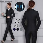 スーツ レディース スーツ2点セット テーラード パンツ 洗える スリム フォーマル リクルート ビジネス