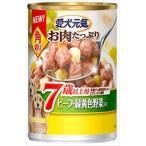 ユニ・チャーム 愛犬元気 お肉たっぷり 角切り 7歳以上用 ビーフ・緑黄色野菜入り 375g×24缶
