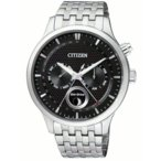 CITIZEN AP1050-56E 逆輸入 シチズン エコドライブ ムーンフェイズ 月齢 メンズ ウォッチ 腕時計 時計 ブラック
