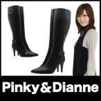 ブーツ ハイヒールブーツ Pinky&Dianne 黒ブーツ リーガル社製