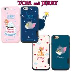 トムとジェリー iPhone X  iphone7ケース  iphone8カバー  iphone6s カード収納 iphone7/8plus  キャラクターアイフォンX