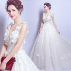 ショッピングプリンセス ブライダル 花嫁 ウェディングドレス 安い 結婚式 ウエディングドレス ホワイト ロングドレス 二次会 パーティードレス オープンバック
