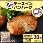 チーズインハンバーグ 24個 2.16kg 冷凍 冷凍食品 送料無料 レンジ ハンバーグ 国内製造 5種 チーズイン 業務用 お弁当 おかず スターゼン 父の日