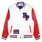ショッピングスタジャン ブラックピラミッド Black Pyramid スタジアムジャケット ホワイト / BP Logo Varsity Jacket / スタジャン アウター 秋冬 メンズ