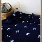 藍染め生地 、アジアンインディゴ、藍プリント生地、平織生地、DIY端切れ布、手芸、ハンドクラフト、縫製布、ミシンDIY  BWW-004