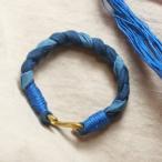 ブレスレット 藍染め メンズ レディース ブレスレット インディアデザイン  ハンドメイド ミサンガ ZRC-09