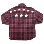 ソフネット SOPHNET. ×FCRB (F.C.R.B.) (F.C.Real Bristol) 16AW ARCH STAR FLANNEL CHECK SHIRTS フランネル長袖シャツ 赤 Size【L】 【中古品-良い】【中古】