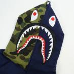 ア ベイシング エイプ A BATHING APE SHARK FULL ZIP HOODIE シャークパーカー 紺 Size【L】 【新古品・未使用品】