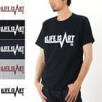 ライフ イズ アート Life is ART Tシャツ  Under-line LOGO ラバープリント T-Shirt[M便 1/1]