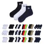 ニューエラ new era NEWERA 靴下 3ペア ソックス メンズ レディース 3P 3枚組 3足セット ベリーショート ショート アンクル スニーカー 黒 白 ブランド