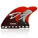 トライクアッドフィン/FUTURE FIN フューチャーフィン RTM HEX TRUSS BASE(5 FINS)RTM HEX ROBERTS 5FIN レッド カーボン/サーフィン/ショートボード