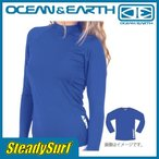 ショッピングラッシュ ラッシュガード LADIES BLAZER L/S RASH SHIRT Cobalt ブルー 8 OCEAN&EARTH/オーシャン&アース/レディース サーフィン