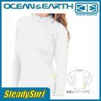 ショッピングラッシュ ラッシュガード LADIES BLAZER L/S RASH SHIRT ホワイト 8 OCEAN&EARTH/オーシャン&アース/レディース サーフィン