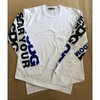 COMME des GARCON コムデギャルソン メンズ CDG LOGO 長袖Tシャツ アシンメトリー Lサイズ