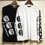 COMME des GARCON コム デ ギャルソン メンズ CDG LOGO ドット&ロゴ長袖Tシャツ