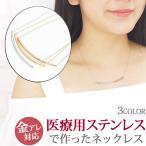 【期間限定セール】サージカルステンレス製 パイプネックレス ネックレスチェーン