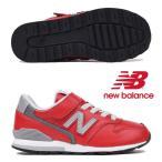 ニューバランス キッズ スニーカー YV996 LRD レッド(RED)new balance シューズ 子供靴 ジュニア くつ レザー 赤 YV996-LRD 19HO cat-k-kids