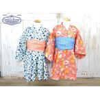 ショッピング浴衣 Ocean&Ground オーシャンアンドグラウンド 浴衣ワンピース DOT&STRIPE FLOWER h 浴衣