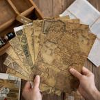 レトロ 素材紙 全4種 クラフト紙 大判 紙もの 紙活 コラージュ素材 ジャンクジャーナル 素材 海外 おすそ分けファイル