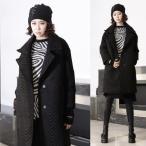 コート レディース ロングコート ヘリンボーン 個性的 冬 2016 モード系 個性的 40代 ファッション