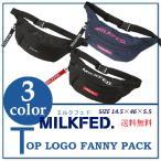 ショッピングウエストバッグ 予約商品 6月中旬 MILKFED ミルクフェド TOP LOGO FANNY PACK 03181050 ファニーパック ウエストバッグ かばん レディース