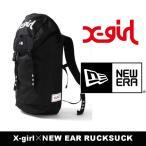 【SALE30%OFF】X-girl(エックスガール)×NEWERA(ニューエラ)RUCKSUCK 05175034 バックパック リュック ロゴ ブラック 鞄 レディース