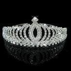王冠 ブライダルティアラ ヘッドバンド ラインストーン 髪飾り 結婚式 舞台 パーティー