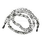 ノーブランド品 サングラス 眼鏡用 チェーン ストラップ コード ホルダー (ブラック&ホワイト)