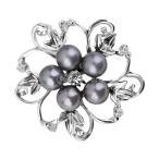 ノーブランド品  ファッション 女性 ブライダル 結婚式 花 ラインストーン ブローチピン 贈り物