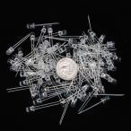 【ノーブランド品】100個セット 超高輝度LED LEDライト 発光ダイオード 直径(φ)5mm 丸い頭 発光色レッド