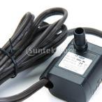 【ノーブランド品】110V 3W水中ポンプ 流れ調節可能 最大揚程0.4M 水族館噴水池ポンプ US Plug