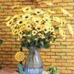 Yahoo!STKショップ人工ヒマワリ 54花ヘッド  飾り ホームショップ  結婚式 誕生日 パーティー オフィス飾り インテリア 雑貨 おしゃれ お祝い