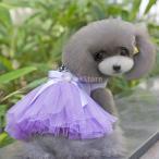 Yahoo!STKショップ【ノーブランド品】ドレス チュチュドレス スカート ドッグウェア コスチューム コスプレ 愛犬 犬用 犬服 可愛い パープル (XL)