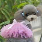 【ノーブランド品】ドレス スカート ドッグウェア コスチューム コスプレ 愛犬 犬用 犬服 可愛い ピンク (M)