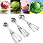 ショッピングアイスクリーム アイスクリームディッシャー アイスクリームスクープ 丸型 グリップ式 キッチンファイル デッシャー (6cm)